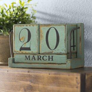 Wood Perpetual Calendar Wayfair
