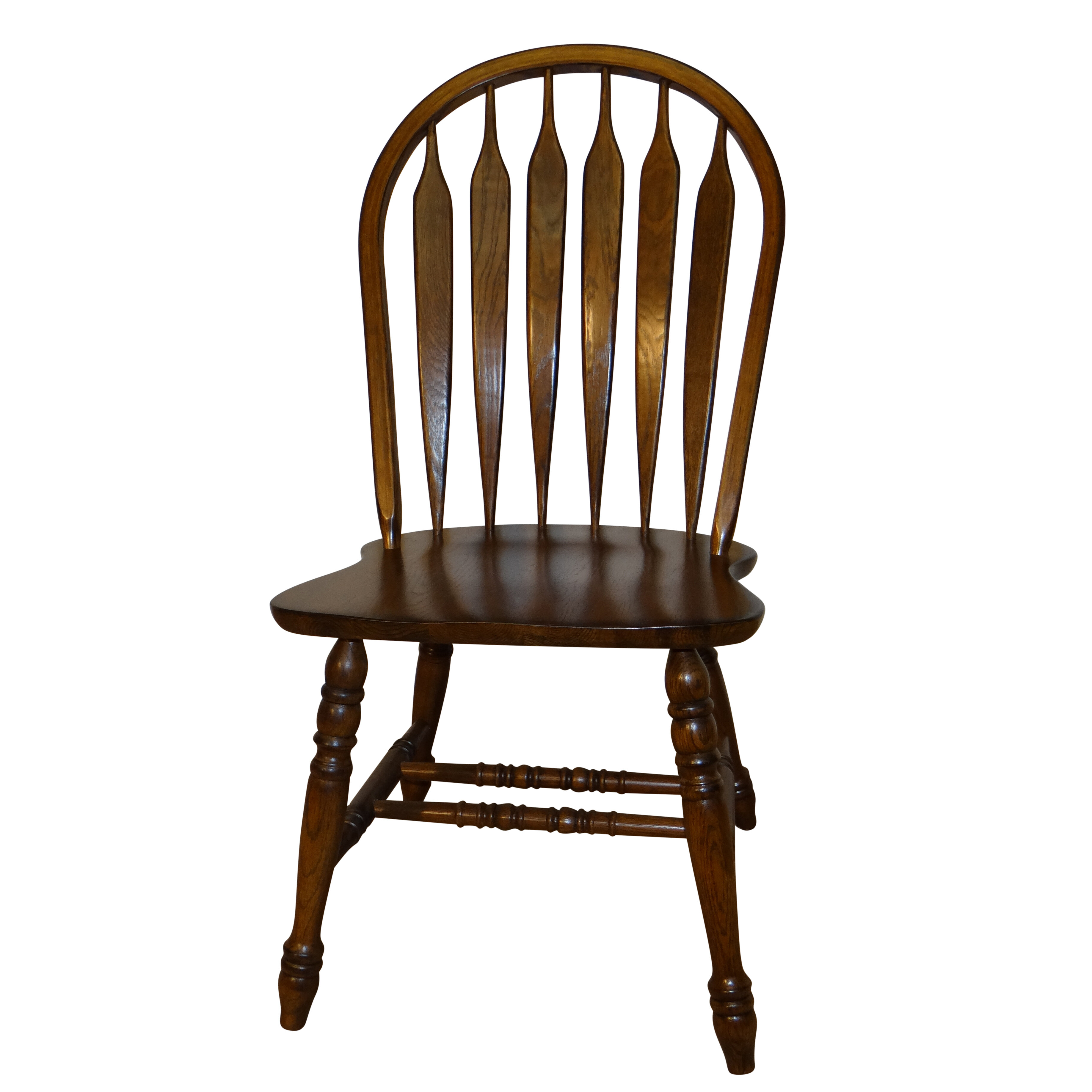 Smithtown Premium Curved Arrowback Solid Wood Dining Chair