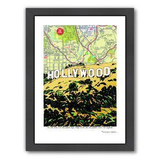 'Hollywood Sign' Framed Graphic Art By East Urban Home