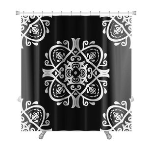 Primo Traditional Oriental Elements Premium Single Shower Curtain