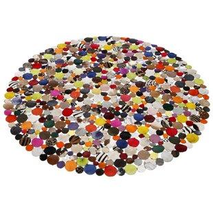 Circle Cowhide Grey/Brown/Orange Rug by KARE Design