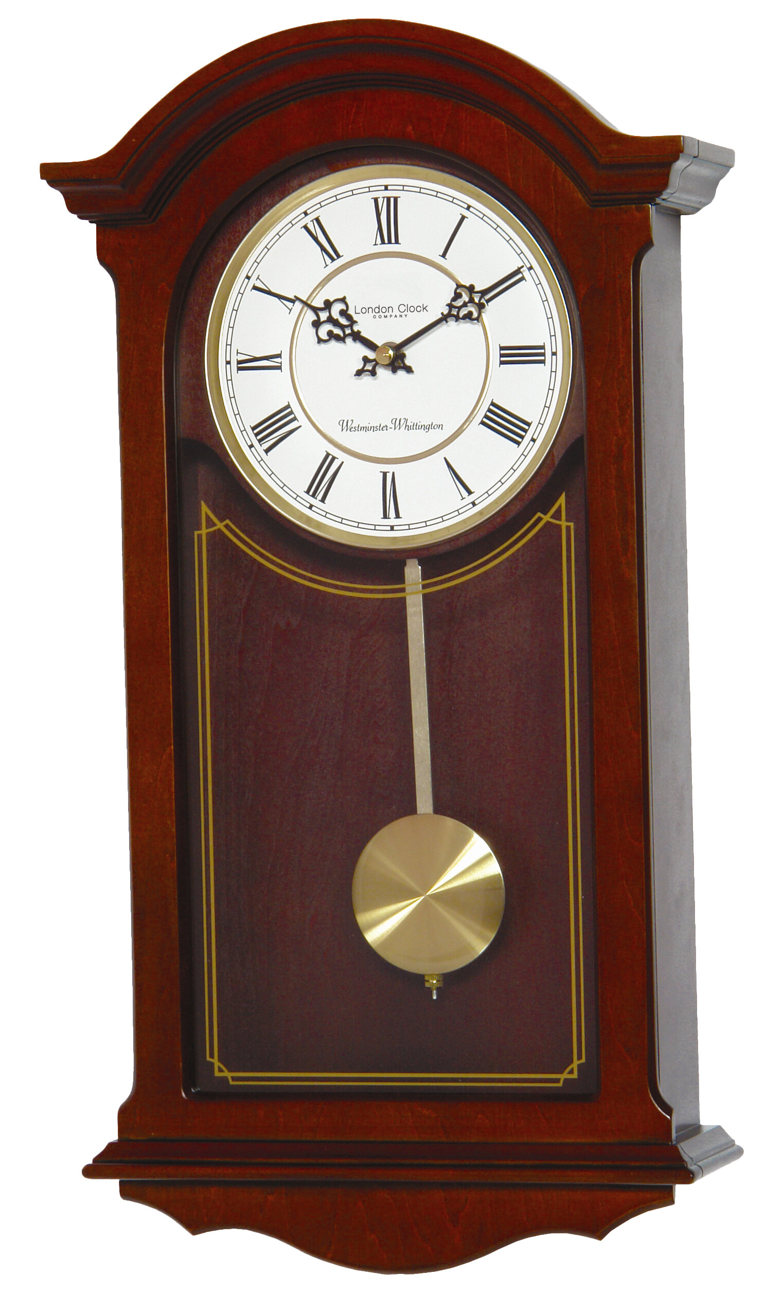London Clock Company Walnut Wood Pendulum Wall Clock U0026 Reviews |  Wayfair.co.uk