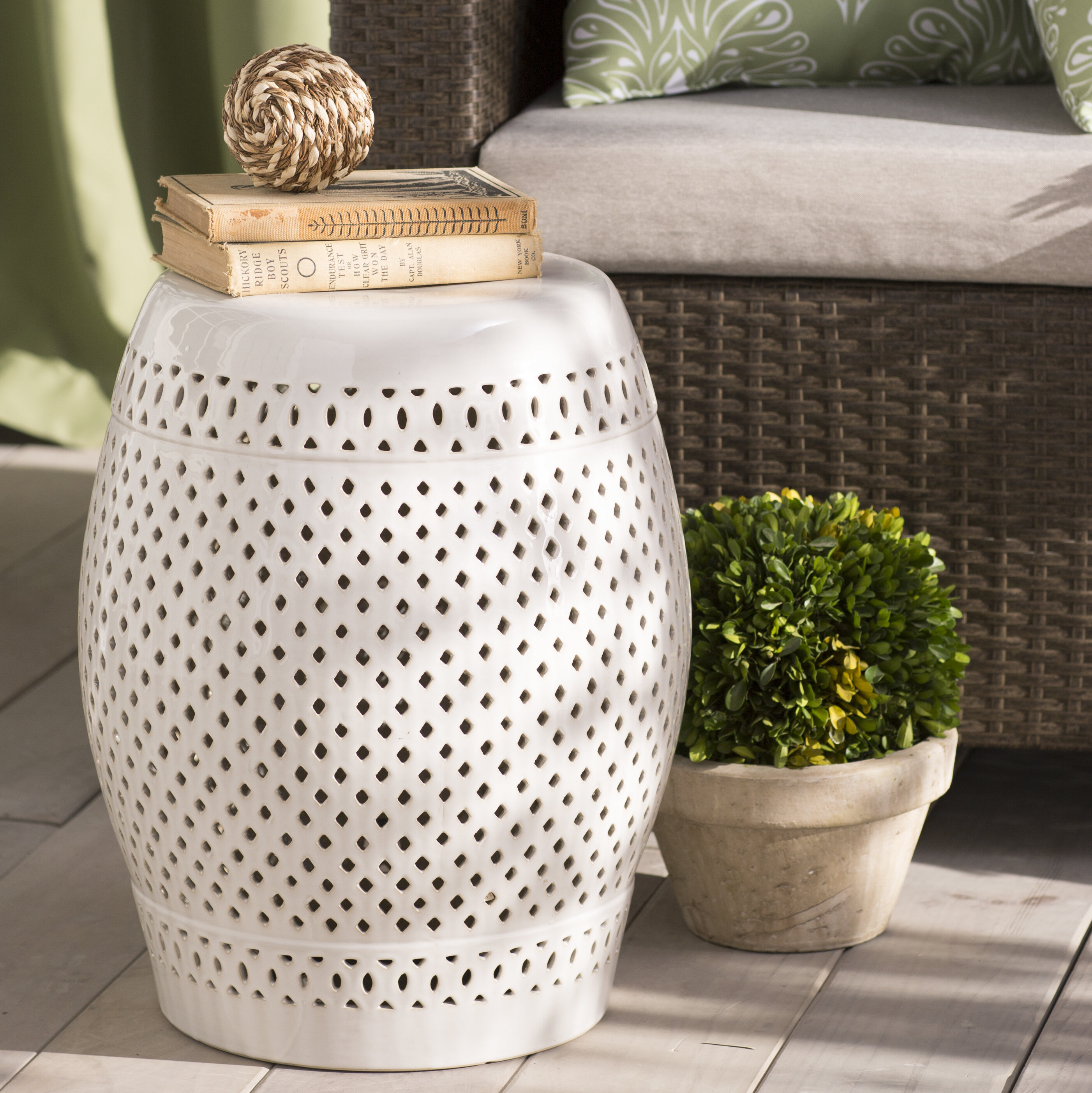 Magnificent Rivera Garden Stool Pdpeps Interior Chair Design Pdpepsorg