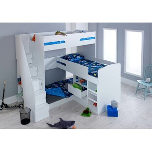 Field Single Triple Sleeper Bunk Bed With Drawers And Shelves By Isabelle & Max