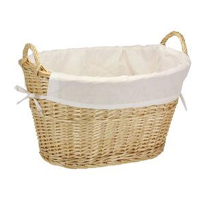 Beachcrest Home Wicker Laundry Basket