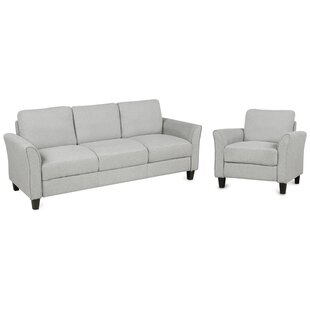 Anouska 2 Piece Standard Living Room Set