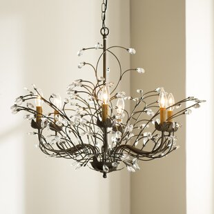 West Oak Lane Crystal and Iron 6-Light Chandelier