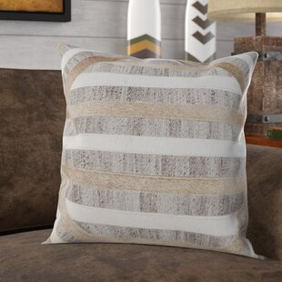 Cifuentes Textured Faux Fur Throw Pillow