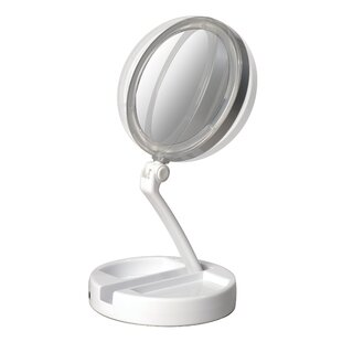 Winburn Lighted Folding Makeup/Shaving Mirror By Symple Stuff