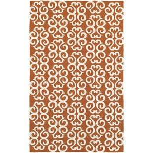 Atrium Scroll Work Brown/Ivory Indoor/Outdoor Area Rug