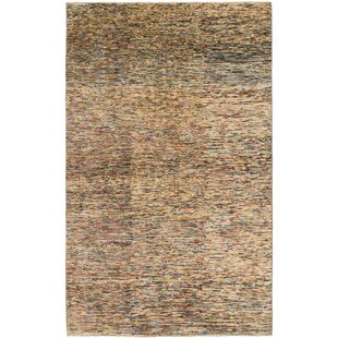 Shop For One-of-a-Kind Nash Hand-Knotted  4'8 x 8' Wool Beige/Black Area Rug By Isabelline