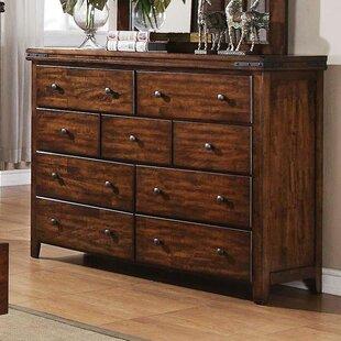 Nashoba 9 Drawer Standard Dresser by Loon Peak