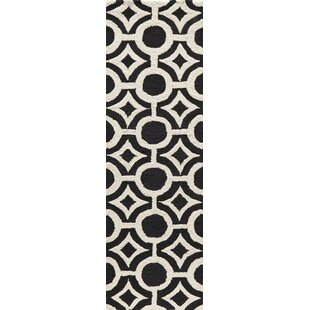 Bargain Agnese Hand-Hooked Black Area Rug By Willa Arlo Interiors