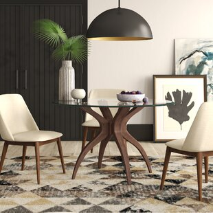 Elderton Solid Wood Dining Table by Mercury Row Spacial Price