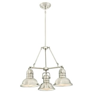 Breakwater Bay Maleah 3-Light Shaded Chandelier