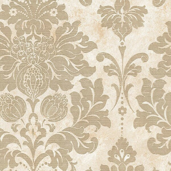 "Norwall Wallcoverings Inc Silk Impressions 32.7' x 20.5"" In Reg Damask Wallpaper Roll"