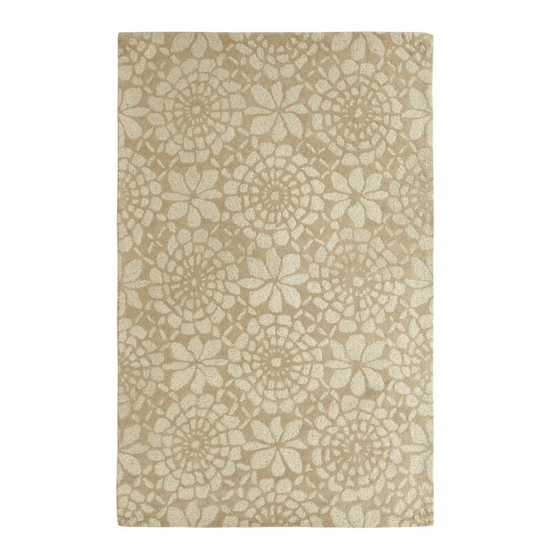 August Grove Roland Ivory/Grey Area Rug, Size: Rectangle 8 x 11