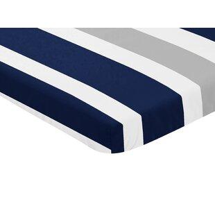 Best Deals Stripe Mini Fitted Crib Sheet BySweet Jojo Designs