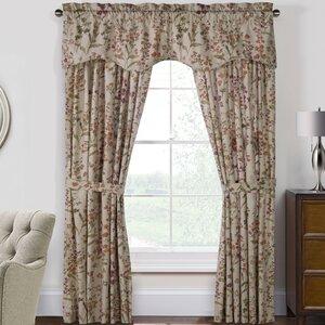 Womack Nature/Floral Room Darkening Rod Pocket Curtain Panels (Set of 2)