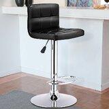 Jamir Swivel Adjustable Height Bar Stool by Ebern Designs