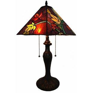 Delmore Flower Tiffany 23 Table Lamp