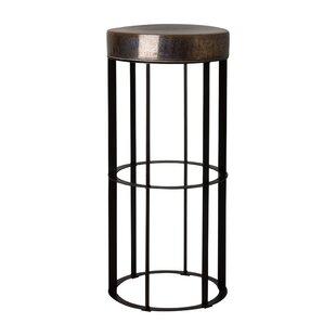 Spitler Pedestal Metal Ceramic End Table