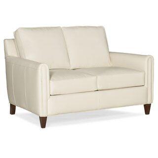 Weiss Leather Loveseat by Bradington-Young SKU:AE562766 Buy