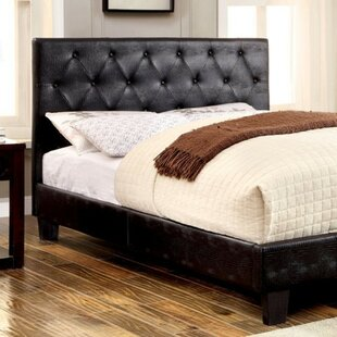 Laniel Crocodile Skin Leatherette Upholstered Panel Bed by Latitude Run