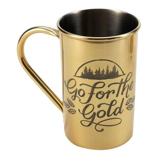 Stainless Steel in Metallic Go for the Gold 23 oz. Beer Stein