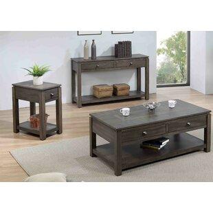 Gracie Oaks Sacks 3 Piece Coffee Table Set