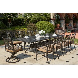 Darby Home Co Waconia 11 Piece Dining Set with Cushions
