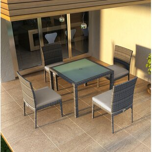 Hobbs 5 Piece Sunbrella Dining Set with Cushions