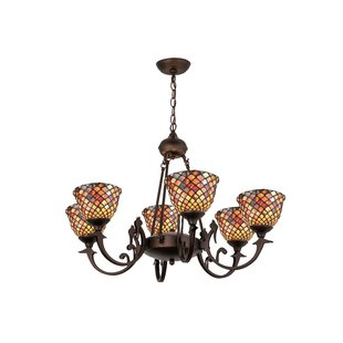 Meyda Tiffany Tiffany Fishscale 6-Light Shaded Chandelier