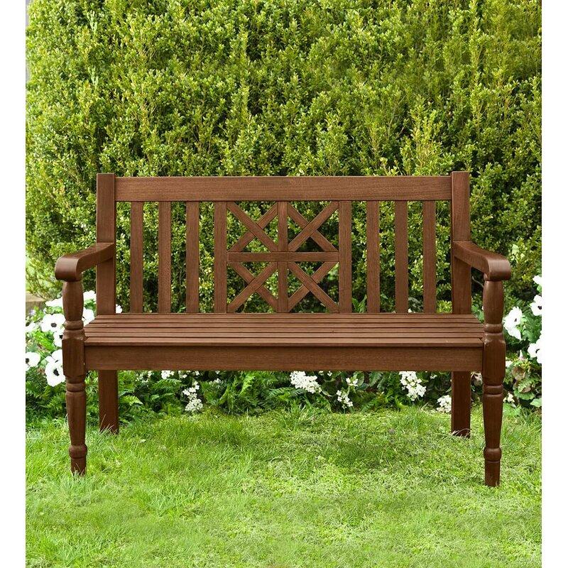 Plow & Hearth Legacy Diamond Wooden Garden Bench & Reviews ...