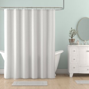 Allegro Dot Single Shower Curtain