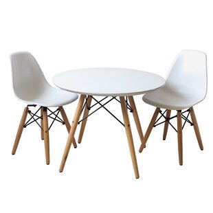 Cathleen Kids 3 Piece Round Table And Chair Set