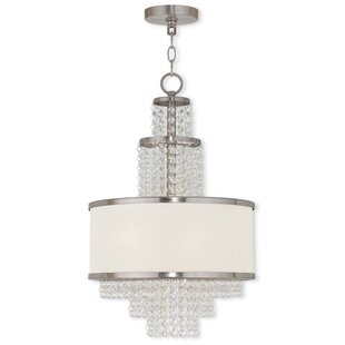 House of Hampton Mac 3-Light Crystal Chandelier