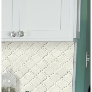 Bianco Arabesque Ceramic Mosaic Tile in White