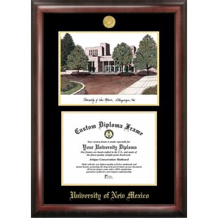 NCAA New Mexico Lobos Gold Embossed Diploma with Campus Images Lithograph Frame By Campus Images