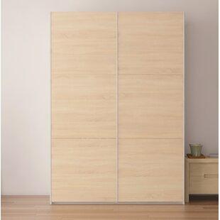 Brayden Studio Zastrow Modern Wood Armoire with Sliding Doors
