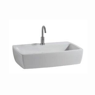 WS Bath Collections X-Tre Ceramic Ceramic Rectangular Vessel Bathroom Sink