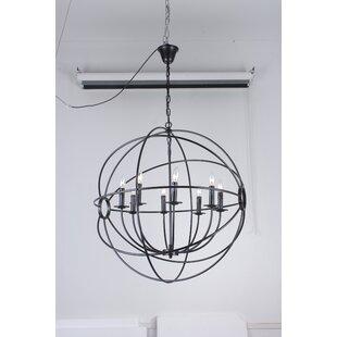 Large orb chandelier wayfair ingrid orb 6 light globe chandelier aloadofball Images