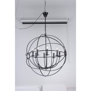 Read Reviews Ingrid Orb 8-Light Globe Chandelier By Charlton Home