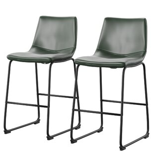 Amendola 26 Industrial Bar Stool (Set of 2) Mercury Row