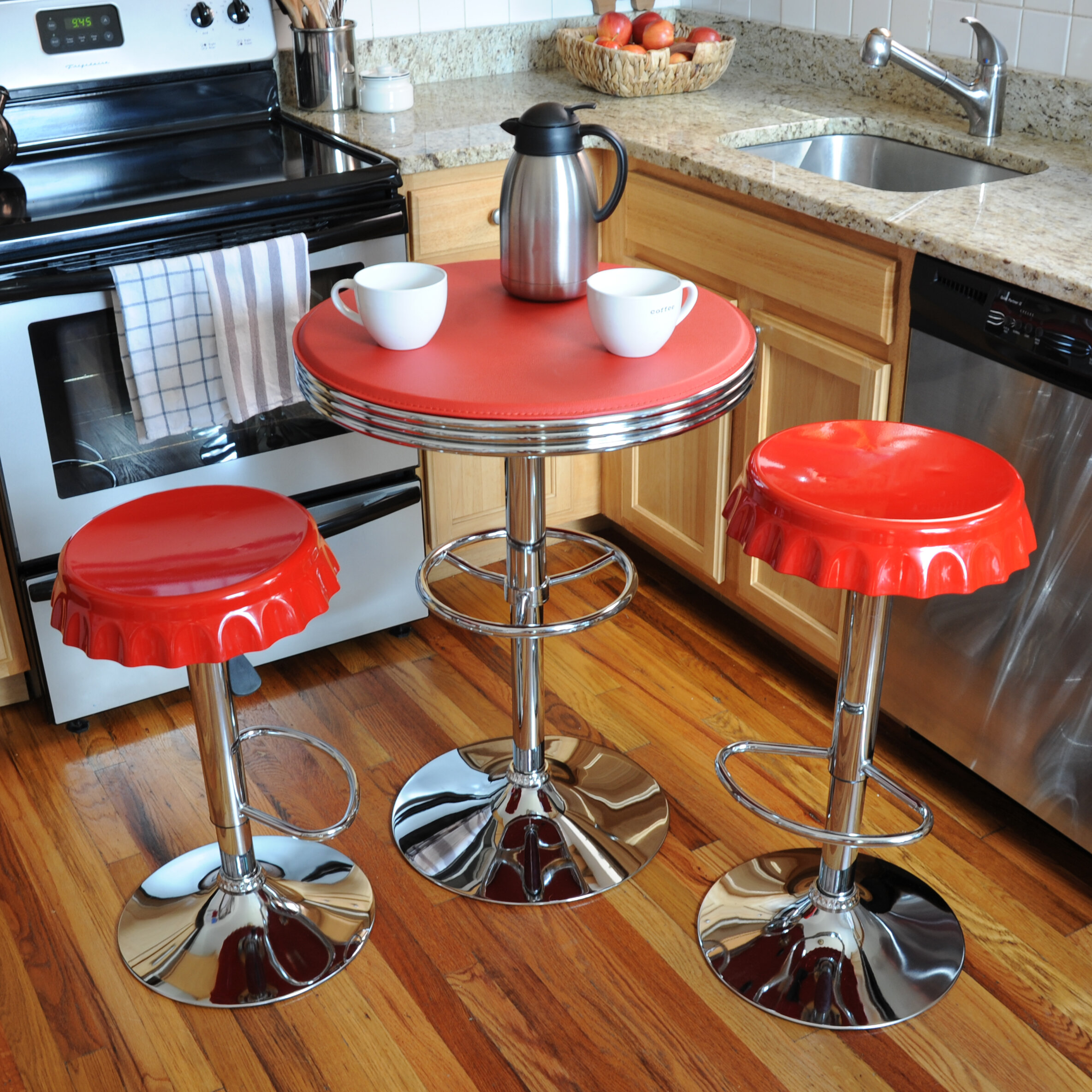 Marvelous Latitude Run Southampton Retro Soda Cap 3 Piece Pub Table Set U0026 Reviews |  Wayfair