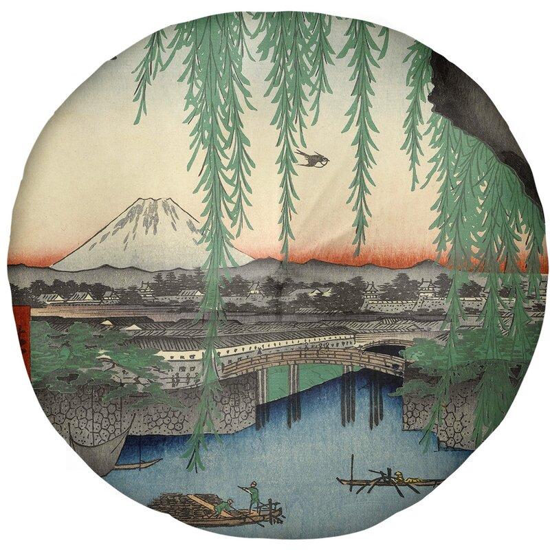 East Urban Home Utagawa Hiroshige Yatsumi Bridge Floor Pillow Wayfair