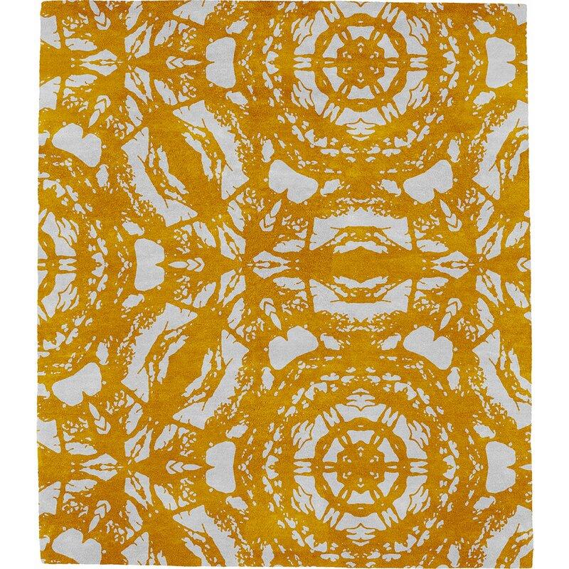 Modern Rugs Patterned N Signature Hand Tufted Wool Orange Area Rug Wayfair
