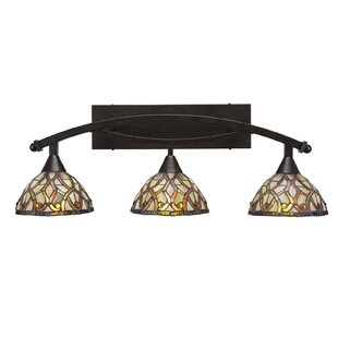 Astoria Grand Austinburg Modern 3-Light Tiffany Glass Shade Vanity Light