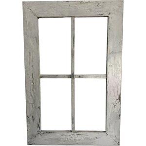 rustic wood window frame wall dcor - Windowpane Frame