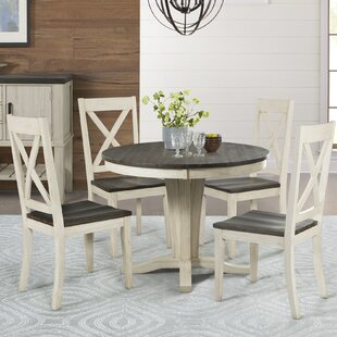Scales 5 Piece Extendable Solid Wood Dining Set Gracie Oaks